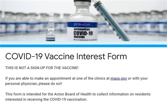 Vaccine Interest Form